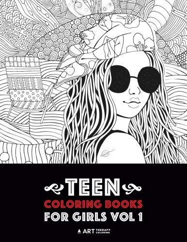 Teen Coloring Books For Girls: Vol 1: Detailed Drawings for Older Girls...