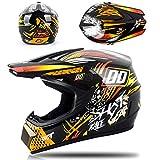 buetr casco integrale per moto elettrico casco integrale off-road casco integrale con tre pezzi tuta-orange_m