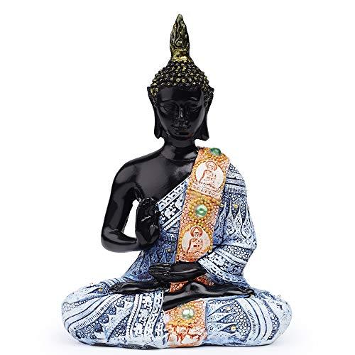 VOANZO Estatua de Buda tailandesa para meditar la paz armonía decoración del hogar