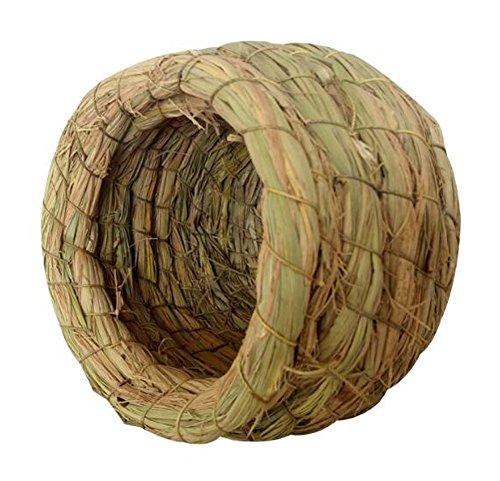 Black Temptation Nid d'oiseau extérieur Tréangé Birdcage Grass Nest Bird Breeding Box-Large Size