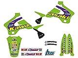 Blackbird Adhesivos para moto Motocross Graphic Replica Team Kawasaki Kx 125 250 1994 1995 1996 1997 1998 Kit de Crystall