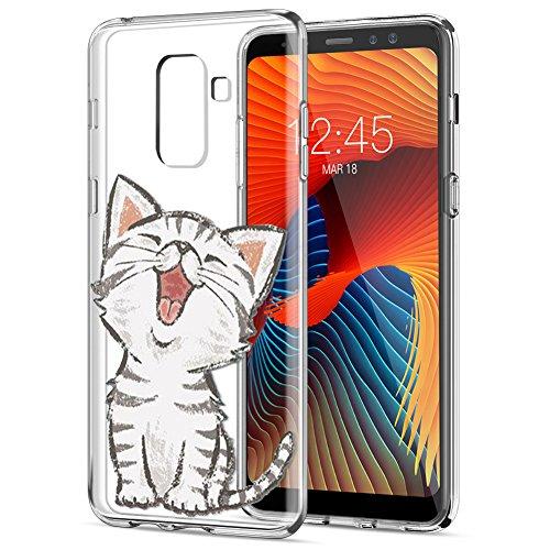 Eouine Funda Samsung Galaxy A8 2018, Cárcasa Silicona 3D