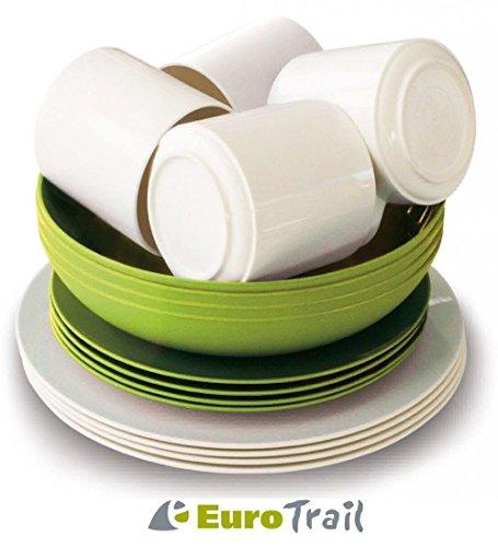 Euro Trail Eco Family Set de 16 pièces Blanc/Vert
