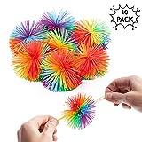 10 Bolas de Hilos Antiestrés de Color Arcoiris - Ideal como juguete sensorial - Perfecto para combatir el estrés.