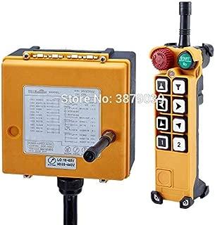 Calvas Crane Remote Control F26-A2 Industrial Wireless Radio 8 Keys (1 Transmitter+1 Receiver) for Hoist Crane Concrete pump truck - (Color: AC DC 18-440V 315MHz)