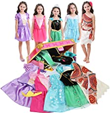 Girls Dress up Trunk VGOFUN Princess Costume Dress Pretend Play Set for Girls Toddlers (Princess dress up trunk-1)