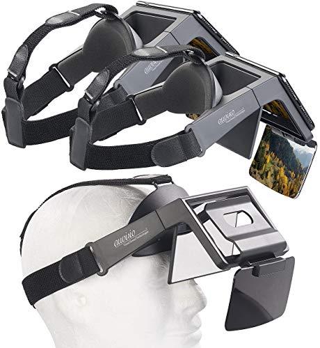 auvisio AR Brille: 2er-Set Augmented-Reality- und Video-Brillen für Smartphones, 69° (Virtual Reality Brille)