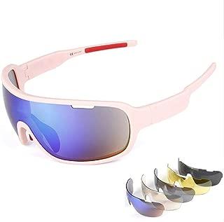 Runspeed Polarized Sports Sunglasses Cycling Glasses UV400 with 5 Interchangeable Lenes for Men Women Running Driving Fishing Golf Baseball Googles
