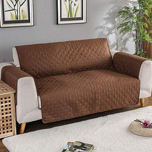 CC.Stars Elastano Funda de sillón,Funda de sofá para Mascotas, Protector de Muebles Antideslizante, Funda de sofá para niños-Coffee_3 Seat (190x196cm)
