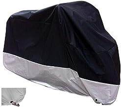 """XYZCTEM All Season Black ضد آب ضد موتور سیکلت پوشش، متناسب با 108 """"موتور (XX بزرگ و Lockholes)"""