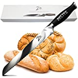 Zelite Infinity Bread Knife 10 Inch - Comfort-Pro Series - German High Carbon Stainless Steel -...