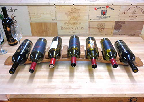 Wine Bottle Rack/Cabby Holds 7 Bottles Made from Wine Barrel Stave WBC-104