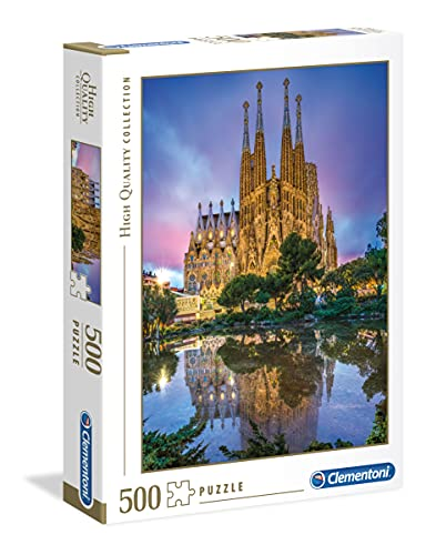 Clementoni- Puzzle 500 Piezas Barcelona, Multicolor (35062.9)