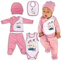 QAR7.3 Ropa Bebe Recien Nacido - 5 Piezas para Niñas 0-3 Meses - Rosa