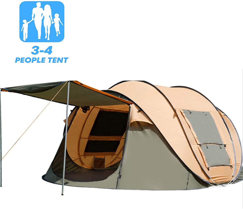 HNAKET Pop Up Zelt Instant Strandzelt Familie Zelt Camping Sonnenschutz Camp Groe Zelt Mit Tragetasche (Doppeltür, Doppelfenster)