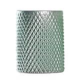 PETSOLA 15cm Klares Glas Gerade Geriffelte Abgerundete Form Hochzeit Vase