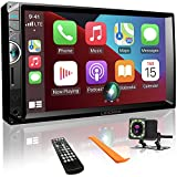 Double Din Car Stereo Compatible with Apple Carplay and Android Auto, 7 Inch Car...