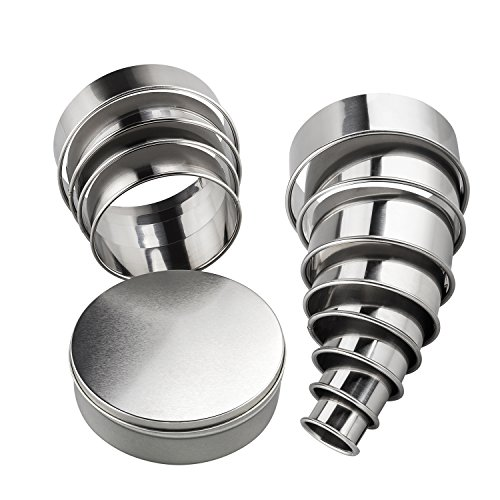 Round Cookie Cutters Set 12 Stainless Steel Circle Biscuit Cutters Baking Cookie Cutter Round Donut Cutter Pastry Cutter Ring Molds