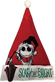 Nightmare Before Christmas Disney The Jack Skellington (Scary and Bright Style) Santa Hat