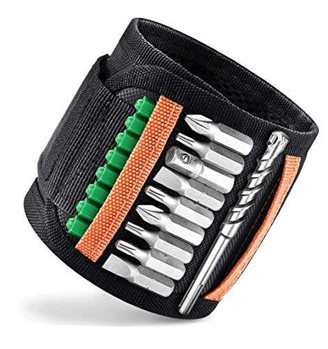 Magnetic Wristband Tool Belt with Upgraded 20 Magnets for Holding Screws, Nails, Drill Bits, Best Gifts for Father, Husband, Electrician, Carpentry, DIY handyman (20 magnets)