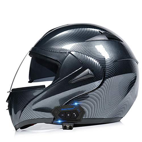 TTFGG Casco integral para motocicleta, inalámbrico, modular, locomotora de motocicleta, casco de carreras de motocross, apto para hombres y mujeres, certificado DOT, C, C, S