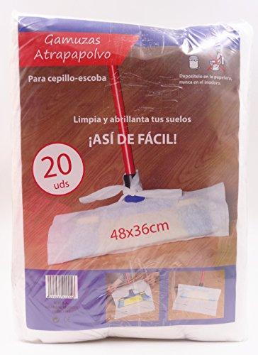 casa imabo Gamuzas atrapapolvo para Cepillo- Escoba,48x36cm, 20uds/Paquete (5 Paquetes)
