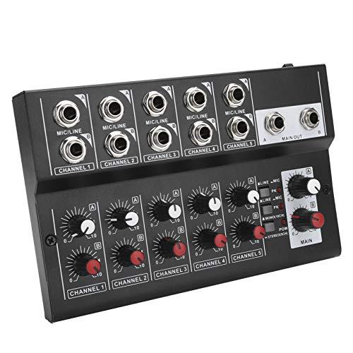FOLOSAFENAR Sólido 100-240 V Amplificador Consola Mezclador de Sonido Mini Mezclador de Audio de 10 Canales, Adecuado para grabación de música(European regulations)