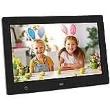 Digitaler Bilderrahmen, Elektronischer Fotorahmen 10 Zoll 1080P HD IPS Display Video/Musik/Foto Player mit