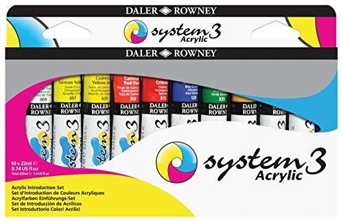 Daler-Rowney System 3 Acrylic Paint Sets Introduction Set