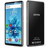 AGPTEK 16Go MP4 Bluetooth WiFi 5 Pouces Ecran Tactile Complet, Haut-Parleur Lecteur Musique Audio HiFi avec Radio FM Extensible jusqu'à 128Go, Haut MP3 Baladeur Support Type-C et Android 6.0-Noir