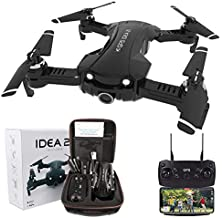 GPS Drones with Camera for Adults Beginner 4k Professional FPV, IDEA21 5GHz WiFi Live Video with Adjustable 120 Wide-Angle Camera, RC Quadcopter Helicopter for Kids, Follow me Mode