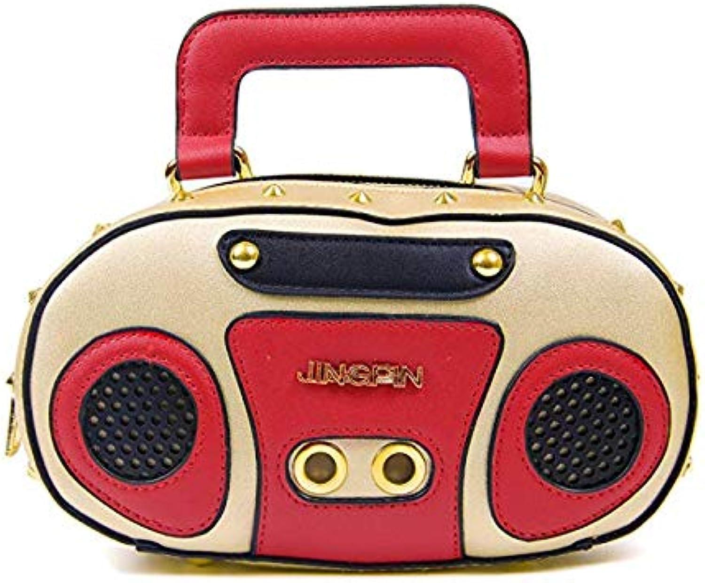 Leather Radio Crossbody Bag Women Clutch Purse HandBag