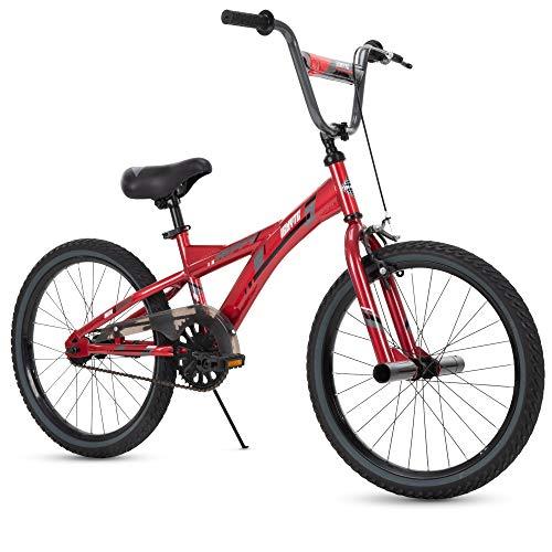 Huffy Kids Bike for Boys, Ignyte 20 inch Red & Blue, Gloss Crimson