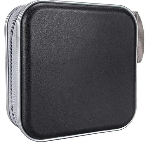 Hainice Porta CD CD Case Portafoglio Dvd Binder Dvd Organizer Borsa di stoccaggio Album Plastica Dura 40 capacità Portable Black