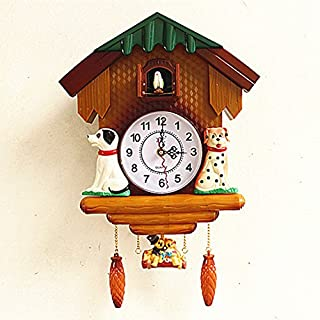 Imoerjia Wall Clock Idyllic Bedroom Living Room Wall Clock Cuckoo Clock Creative Cartoon Children's Room Birdie Time Clocks, 20 Inch,T4-1