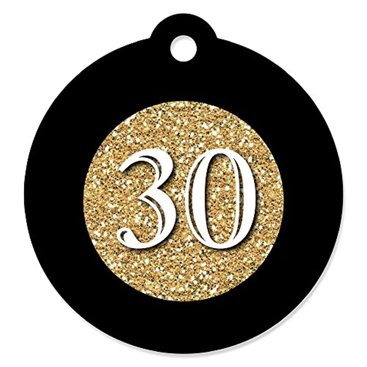 Adult 30th Birthday - Gold - Birthday Party Favor Gift Tags (Set of 20)
