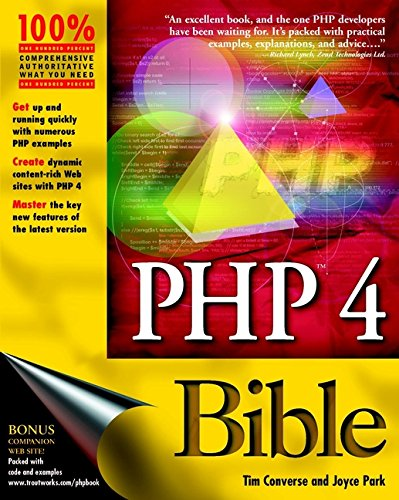 PHP 4 Bible (Bible (Wiley))