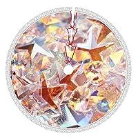 Pengfly 結晶 宝石リトルツリースカート クリスタルジェムクリスマスツリースカート 全幅片面印刷、ポリエステル素材 耐久性、色あせなし、柔らかく、軽く、手触りが良い クリスマス、ハロウィーンの場合