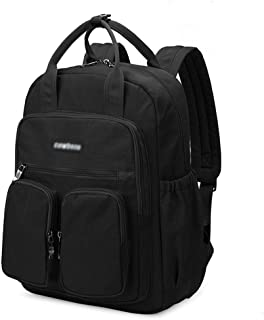 ZNBJBB Portable Backpack Female New Student Bag Fashion Campus Computer Backpack Leisure Travel Backpack (Color : Cool black)