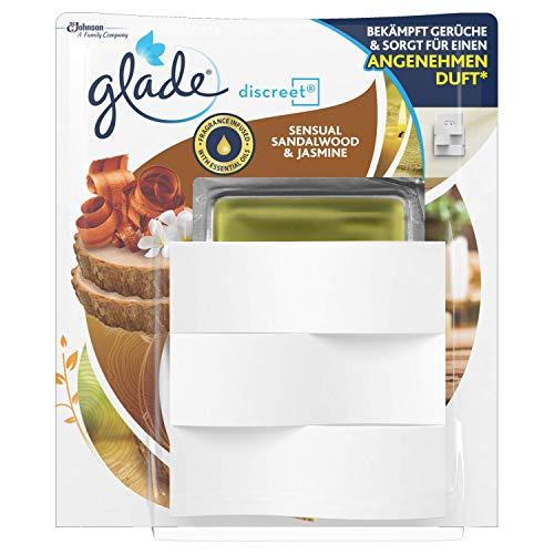 Glade (by Brise) Discreet Electric, Raumduft für alle Räume, Sensual Sandalwood & Jasmine, 1er Pack (1 x 8 g)