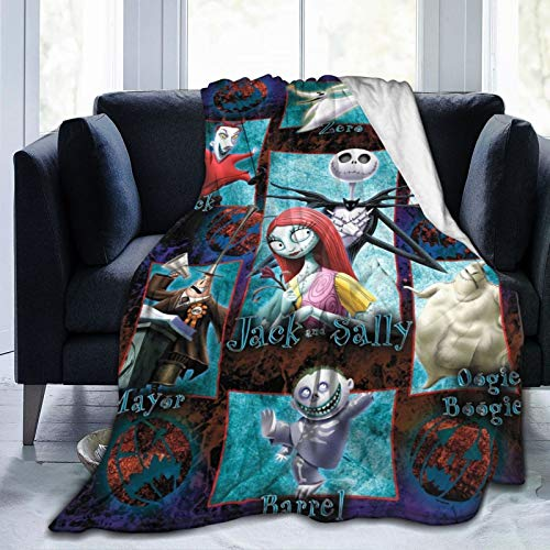Dserc The Nightmare Before Christmas Blanket Ultra Soft Throw Flannel Blanket Warm Fuzzy Blanket for Bed Couch Chair Living Room 50'x40'