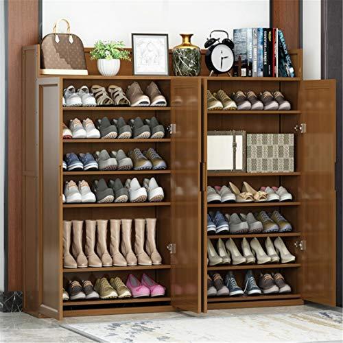 WanuigH Armario Zapatero Gabinete de Zapatos Puerta del hogar Almacenamiento a Prueba de Polvo Simple Zapato Rack de Gran Capacidad Multi-Capa Dormitorio Económico Rack Organiza Tus Zapatos