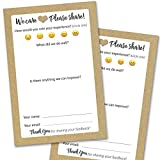 50 Suggestion Box Cards - Rustic Comment Cards for Restaurant, Bed & Breakfast and Hotel Supplies - Premium Customer Complaint and Feedback Forms for Both Small and Large Business