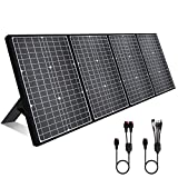 [2020 Upgrade] 120W Foldable Solar Panel Charger for Power Station, USB-C/Kickstand/8mm/Anderson Plug Solar Panel Portable For...