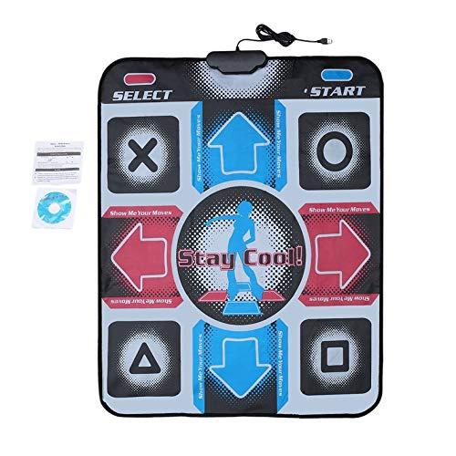 rutschfeste, strapazierfähige, verschleißfeste Tanzschrittmatten-Pad-Pads Tänzerdecke zum PC mit USB für Bodybuilding-Fitness - Mehrfarbig