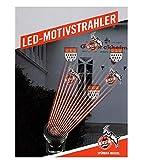 1. FC Köln LED Motivstrahler, Logostrahler, Motiv Projektor - Plus Lesezeichen I Love Köln