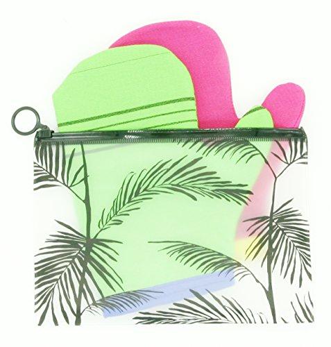 Home&Home gezicht lichaam exfoliërende Mitt Scrub bad wassen doek handschoen Loofah Koreaanse Italië handdoek Green+Red+Pouch