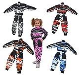 Wulfsport, combinaisons enfant Wulf pour courses de motocross LT PW CAMO et karting - gris -