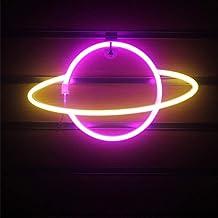 Adoture Planet Neon Light lampa ścienna LED, neonowa, na baterie lub USB, neonowa tabliczka LED do domu, pokoju dziecięceg...