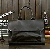 JPDP Hot Business maletín Bolso de Hombre Bolso de sección Transversal de Piel de Caballo Loco Hombres Bolso de Mensajero de Hombro Paquete Bolsa de Ordenador Negro
